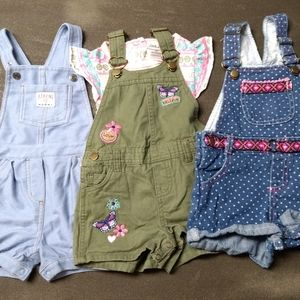 Girls Overalls and t-shirt